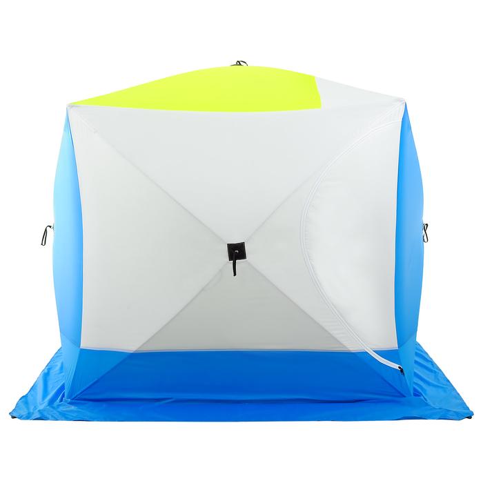 Палатка зимняя «КУБ дубль» 4-местная трёхслойная, дышащая - фото 32531
