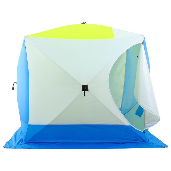Палатка зимняя «КУБ дубль» 4-местная трёхслойная, дышащая - фото 32532