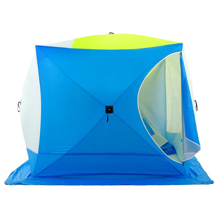 Палатка зимняя «КУБ дубль» 4-местная трёхслойная, дышащая - фото 32533
