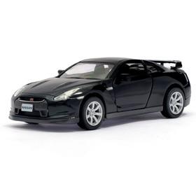 Машина металлическая Nissan GT-R R35, 1:36, открываются двери, инерция, цвет чёрный