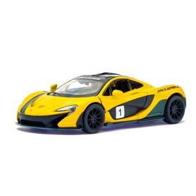 Машина металлическая McLaren P1, 1:36, открываются двери, инерция, цвет желтый