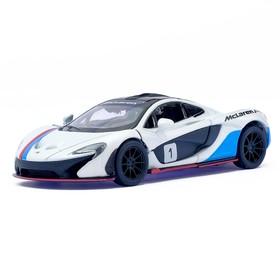 Машина металлическая McLaren P1, 1:36, открываются двери, инерция, цвет белый