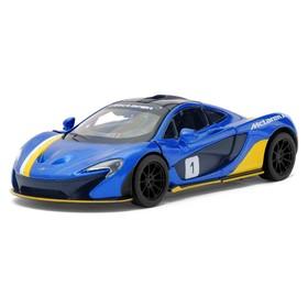 Машина металлическая McLaren P1, 1:36, открываются двери, инерция, цвет синий