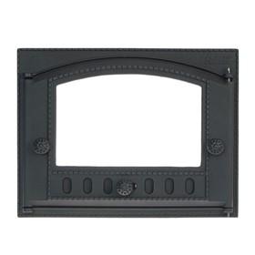 Дверка каминная топочная ДК-2С, 43,5х32х9,2 см, без стекла, термошнур