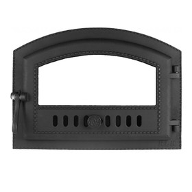 Дверка каминная топочная «Каравай» ДКГ-10С, 50х36х14,8 см, без стекла, термошнур