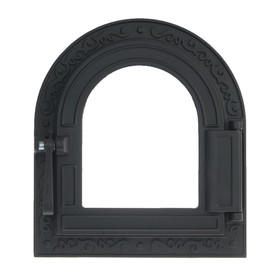 Дверка топочная герметичная «Очаг» ДТГ-10С, 32,5х36,5х11,5 см, со стеклом, термошнур