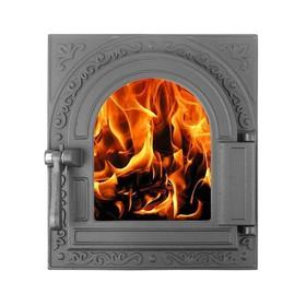 Дверка топочная герметичная «Очаг-2» ДТГ-11С, 36Х32 см, со стеклом, термошнур