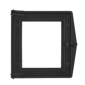 Дверка топочная ДТ-4С, 29х29,6х7 см, без стекла, термошнур