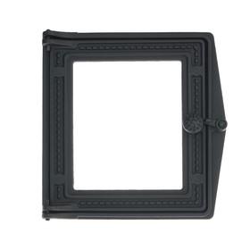 Дверка топочная ДТ-4С, 29х29,6х7 см, со стеклом, термошнур