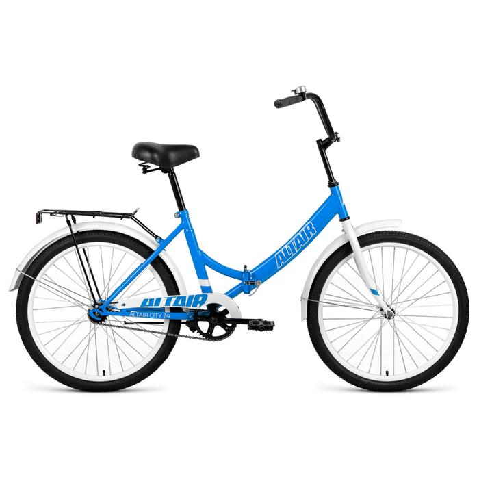"""Велосипед 24"""" Altair City, 2020, цвет голубой/белый, размер 16"""""""