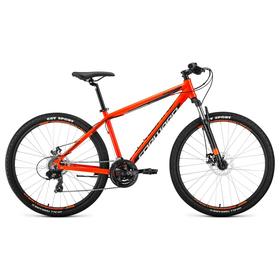 """Велосипед 27,5"""" Forward Apache 2.0 disc, 2020, цвет оранжевый/черный, размер 15"""""""