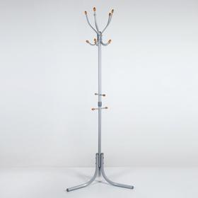 Вешалка напольная (ВК5Д/С), 60×60×180 см, цвет серый матовый