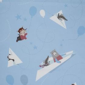 Пеленка «Крошка Я» Бумажные самолеты 75*120 см - фото 7461162
