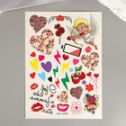 """Татуировка на тело цветная """"Любовь и Париж"""" МИКС 27х15,5 см"""