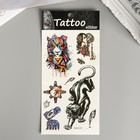 """The tattoo on the body colored """"Tigers"""" MIX 22х10,5 cm"""