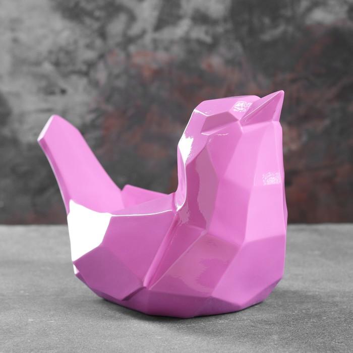 """Подставка под мелочи """"Птичка"""" розовая 33х16,5х21см"""