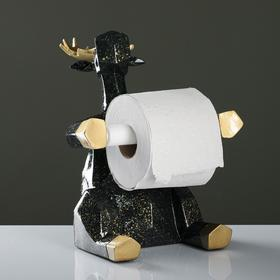 """Держатель для туалетной бумаги """"Лось"""" гранит 19х19х22см"""