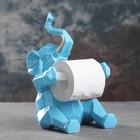 """Держатель для туалетной бумаги """"Слон"""" голубой 21х19х30см"""