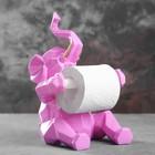 """Держатель для туалетной бумаги """"Слон"""" розовый 21х19х30см"""