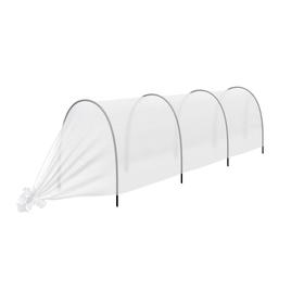 Парник прошитый, длина 4 м, 4 дуги из пластика, дуга L = 2 м, d = 16 мм, спанбонд 35 г/м², «Малышок»