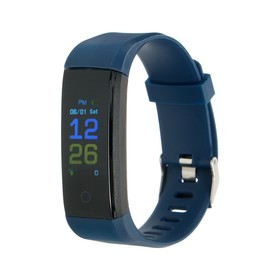 """Фитнес-браслет LuazON LF-07, 0.96"""", цветной дисплей, пульсометр, оповещения, шагомер, синий"""