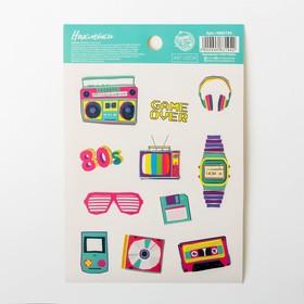 80's stickers, 11 x 16 cm