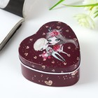 "Box metal heart ""Couple on date"" 4х7х7 cm"
