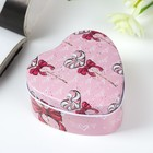 "Box metal heart ""Lollipop"" 4х7х7 cm"