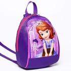 Рюкзак детский «Принцесса София», 20 х 13 х 26 см, отдел на молнии