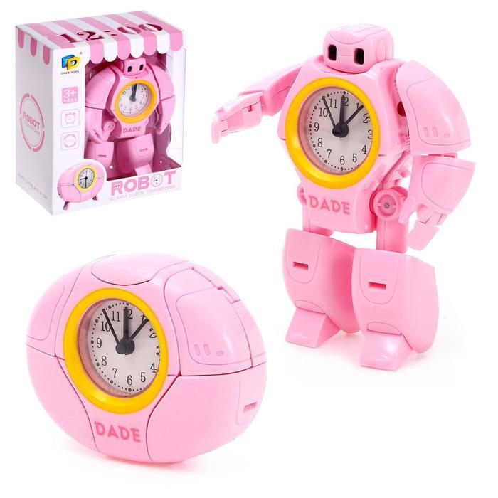 Робот «Будильник», трансформируется, звуковые эффекты, цвет розовый - фото 105506778