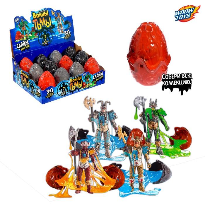 Яйцо со слаймом и игрушкой - конструктором «Воины тьмы» МИКС