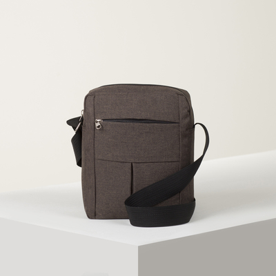 Bag husband of Roma 25*7*19, otd zipper, 2 n/ pockets, long belt, cinnamon