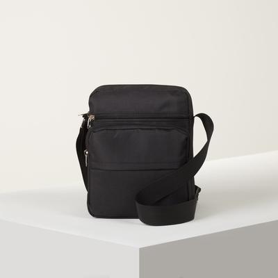 Bag husband Radion, 21*10*25, otd zip, 3 n/pockets, long strap, black
