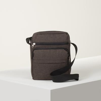 Bag husband Radion, 21*10*25, otd zip, 3 n/pockets, long belt, cinnamon