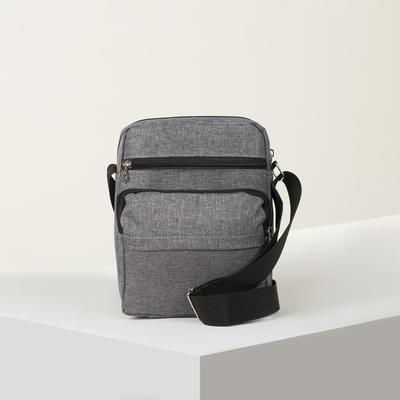 Bag husband Radion, 21*10*25, otd zip, 3 n/pockets, long strap, gray