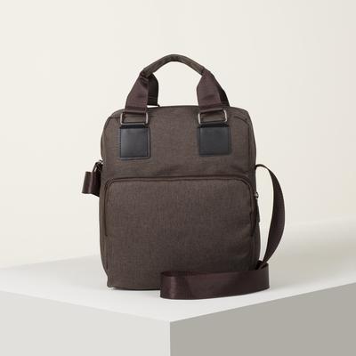 Bag husband Robert, 24*30*10, otd zipper, 2 n/pockets, long belt, cinnamon