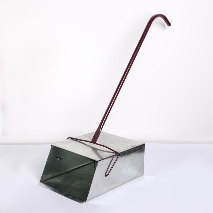Совок для мусора-ловушка, 33×24×13 см, L=70 см, оцинкованный УЦЕНКА