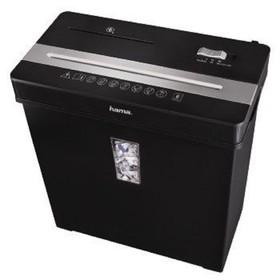 Шредер Hama Premium X8CD (P-3), фрагменты 5x34мм, 7 листов одн, пл.карты, CD, 10л Ош