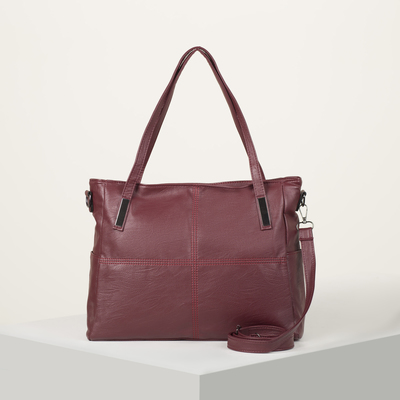Bag wives L-1200, 39*14*27, otd zipper, no pocket, long strap,Burgundy