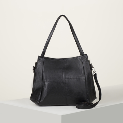 Bag wives L-1199, 32*12*26, otd zipper, no pocket, long strap, black