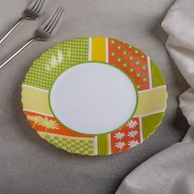 Тарелка десертная Berenice green, d=19 см