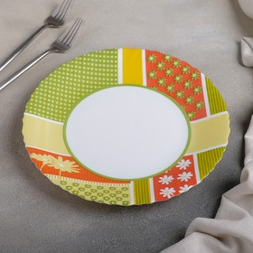 Тарелка обеденная Berenice green, d=25 см
