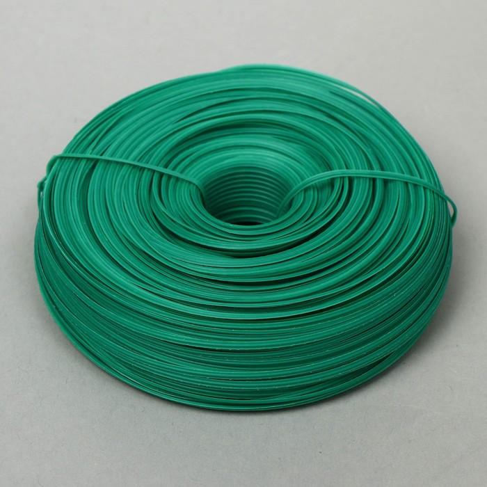 Проволока подвязочная, 100 м, толщина 2 мм, зелёная