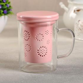 {{photo.Alt || photo.Description || 'Кружка с керамическим ситом и крышкой «Нежность», 350 мл, цвет розовый'}}