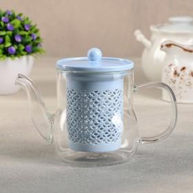 {{photo.Alt || photo.Description || 'Чайник заварочный «Нежность», с керамическим ситом, 400 мл, цвет синий'}}