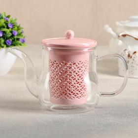 {{photo.Alt || photo.Description || 'Чайник заварочный «Нежность», с керамическим ситом, 400 мл, цвет розовый'}}