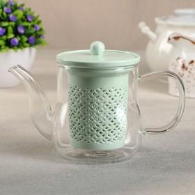 {{photo.Alt || photo.Description || 'Чайник заварочный«Нежность», с керамическим ситом , 400 мл, цвет мятный'}}