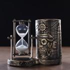 "Clocks ""Sea of love"" with the pencil, 16.5х8х13 cm"