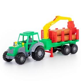Трактор «Алтай» с полуприцепом-лесовозом