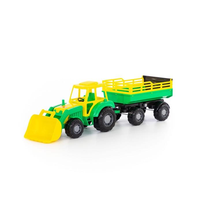 Трактор «Алтай» с прицепом №2 и ковшом - фото 105649896